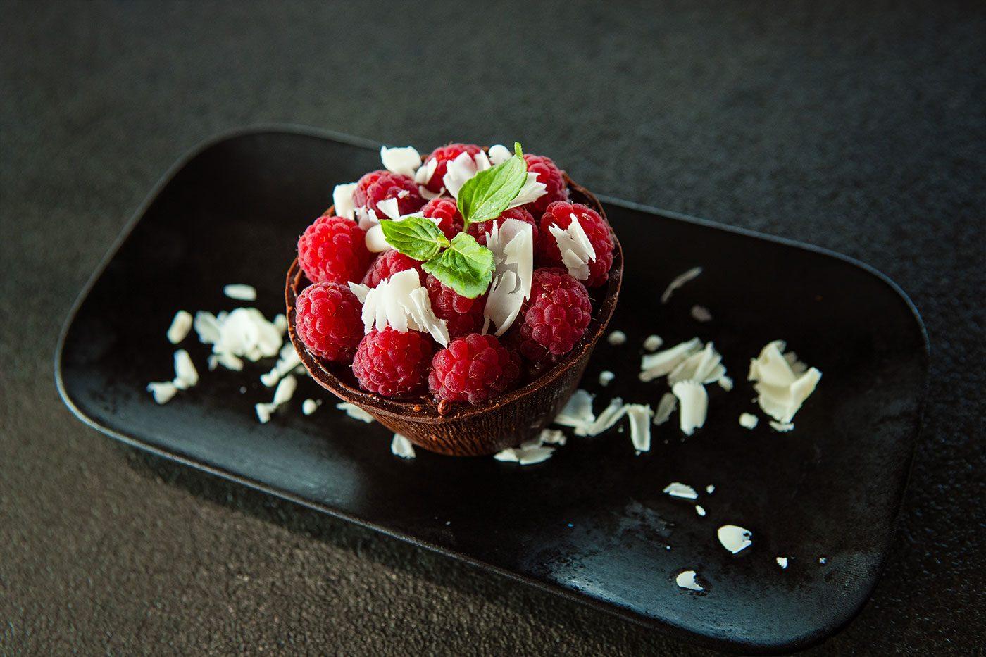 Шоколадово изкушение с малини